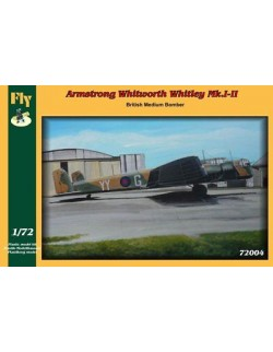 ARMSTRONG WHITHWORTH WHITLEY MK.I-II, BRITISH MEDIUM BOMBER,FLY 72004,SCALE 1/72