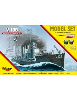 GERMAN WWI TORPEDO BOAT V106, MODEL SET , 1/400, MIRAGE HOBBY 840064