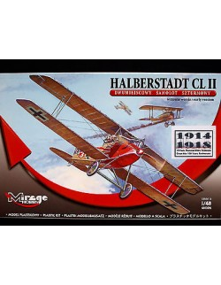 HALBERSTADT CL II – WWI GERMAN GROUND ATTACK AIRCRAFT, MIRAGE HOBBY, SCALE 1/48