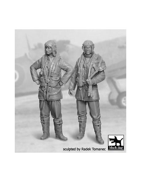 RAF Fighter  Pilots 1940-1945 set  cat.n.: F32030 (2 FIGURES) , BLACK DOG, 1:32