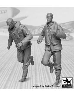 RAF Fighter Pilots 1940-1945 set N°2  cat.n.: F32045 (2 FIGURE),BLACK DOG, 1:32