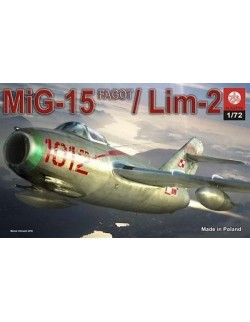 MIG-15 ''FAGOT''/ LIM-2 -POLISH AIR FORCE, ZTS PLASTYK, SCALE 1/72