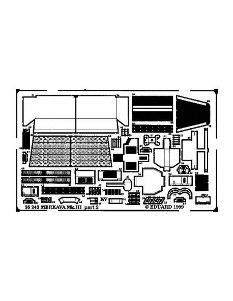 eduard 35243 iii Pe parts for merkava mk for academy 1//35