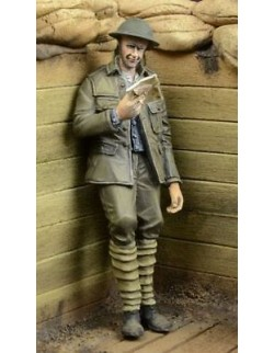 D-Day Miniature, 35035,1:35,WWI British Infantryman reading a letter (1 figure)