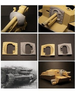 S.B.S Models, 1/35, 35001 40/43M Zrínyi assault gun mantlet for Bronco kit