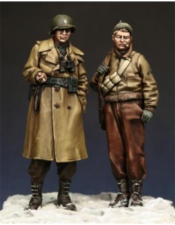 U.S. G.I. Officer and NCO (2 FIGURES), The Bodi, TB-35021, 1:35
