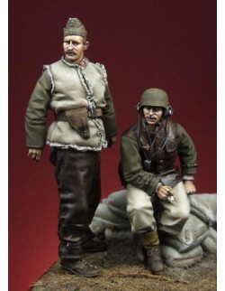 HUNGARIAN MOTORIZED ARTILLERY OFFICER & NCO (2 figures), The Bodi, TB-35034,1:35