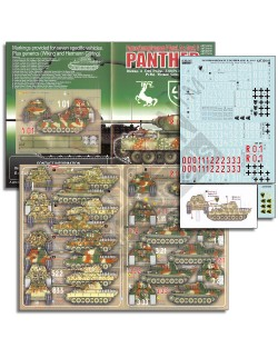 ECHELON FD ATX351015,1/35 Decals for Wiking & Hermann Göring Panthers (As & Gs)