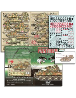 ECHELON FD ATX351009,1/35 Decals for Pz.Abt.51/52 & 15.Pz.Rgt Panthers (Ausf Ds