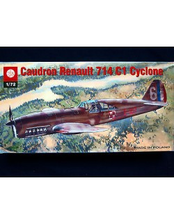 CAUDRON-RENAULT 714 C1 CYCLONE, ZTS PLASTYK S-136, SCALE 1:72