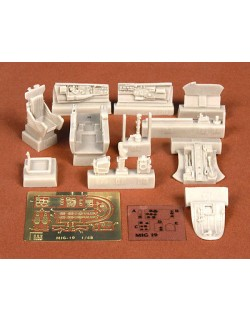 S.B.S Models, 1:48, 48025, MIG-19 PM cockpit set for Trumpeter kit
