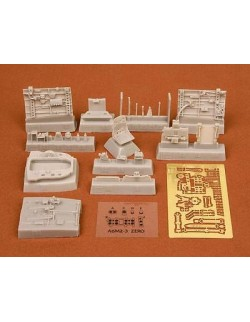 S.B.S Models, 1:48, 48029, A6M3 Zero (Hamp) cockpit set for Hasegawa kit
