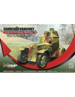ARMORED CAR WZ.34 -II, POLISH AND GERMAN VER. , MIRAGE HOBBY 355020, SCALE 1/35