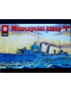 "BRITISH DESTROYER  CLASS ""I"", ZTS PLASTYK S-015, SCALE 1:500"
