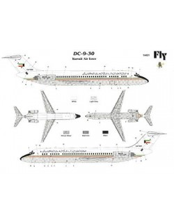 DC 9-30 Kuwait Air Force,  FLY 14421, SCALE 1/144