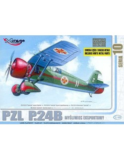 PZL P.24B 'YASTREB' export fighter (Bulgarian), MIRAGE HOBBY 48104, SCALE 1/48