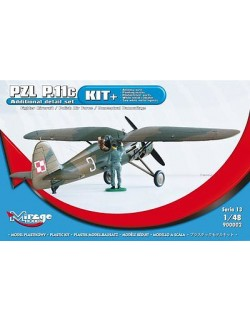 [KIT+] Fighter Aircraft PZL P-11c 'Polish AF, MIRAGE HOBBY 900002, SCALE 1/48