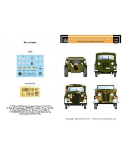 S.B.S Models, 1/35,D35001, DECALS for Hungarian Military Passenger cars in WWII