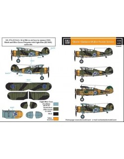 S.B.S Models, 1/48, D48008, DECALS for Gloster Gladiator in Finnish service