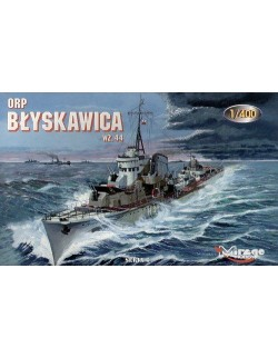 ORP BŁYSKAWICA wz. 44 - POLISH NAVY WWII DESTROYER, MIRAGE HOBBY 40011, 1:400