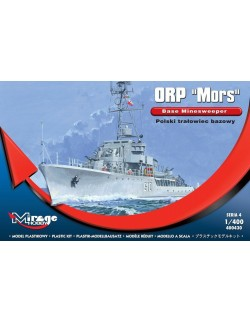 ORP 'MORS' POLISH BASE MINESWEEPER,  MIRAGE HOBBY 400430, 1:400