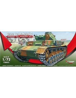 ,German Tank Pz.Kpfw. IV Ausf. C 'Normandy 1944' MIRAGE HOBBY 728053,SCALE 1/72
