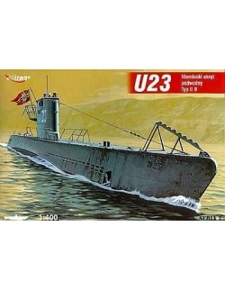 U23 typ II B German Submarine, 1:400, MIRAGE HOBBY 400204