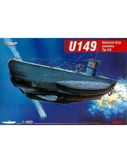 U149 typ II D German Submarine, 1:400, MIRAGE HOBBY 400206
