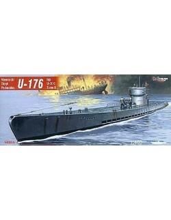 U-176 typ U-IX C Turm II German Submarine, 1:400, MIRAGE HOBBY 40041