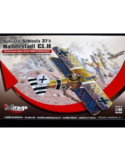 SCHUSTA/SCHLASTA 27/B HALBERSTADT CL II, GROUND SUPPORT AIRCRAFT, MIRAGE HOBBY