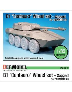 "DEF.MODEL, B1 ""Centauro"" Sagged Wheel set (for Trumpeter 1/35), DW35012, 1:35"