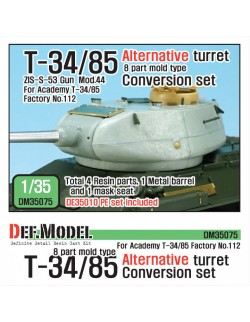 DEF.MODEL,T-34/85 8 part mold type Alternative Turret Con. set, DM35075, 1:35