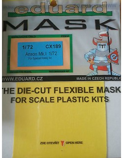 MASK for Anson Mk. I, CX189, 1:72, Eduard