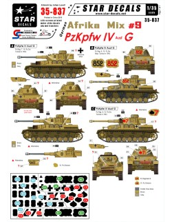 Star Decals 35-837, Decal - German Afrika Mix  9, 1:35