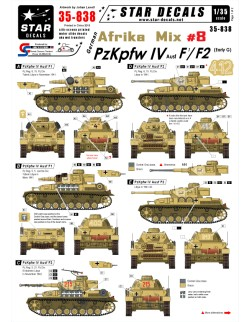 Star Decals 35-838, Decal - German Afrika Mix  8, 1:35