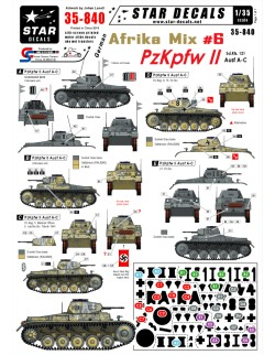 Star Decals 35-840, Decal - German Afrika Mix  6, 1:35