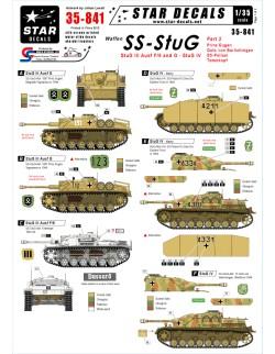 Star Decals 35-841,  Waffen - SS StuG  2, SCALE 1:35