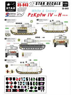 Star Decals 35-843, Decal - White and Snowy PzKpfw IV, 1:35