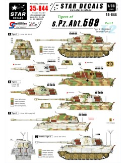 Star Decals 35-844, Decal - Tigers of s.Pz.Abt. 509  2, 1:35