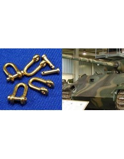 1:35, RB Model, 077107 Shackles (4 pcs)  Used in different military vehicles