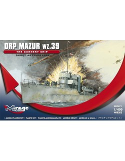 ORP MAZUR WZ.39- THE  GUNNERY SHIP - WW II, 1/400, MIRAGE HOBBY 400202