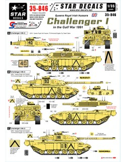 Star Decals 35-846,Decals for Challenger I in the Gulf War - QRIH,1:35