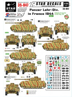 Star Decals 35-847,Decals for 2.Panzer Div. in France 44-PzKpfw IV Ausf H ,1:35