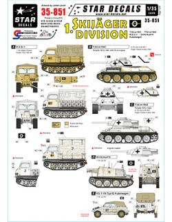 Star Decals 35-851, Decals for German 1.Skijäger Division,1:35