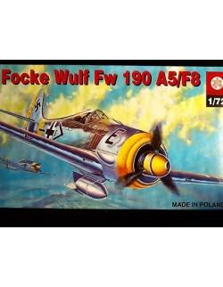 FOCKE WULF FW-190 A5/F8  LUFTWAFFE WW II FIGTHER, ZTS PLASTYK, SCALE 1/72