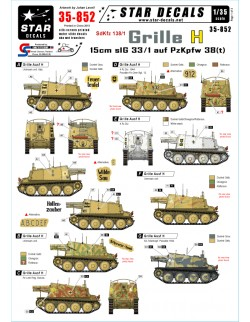 Star Decals 35-852, Decals for Grille Ausf H Sdkfz 138/1, 1:35