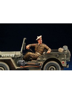 DEF.MODEL, WWII British Jeep Driver (1 FIGURE), DO35002,1:35