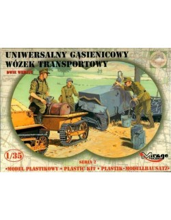 GERMAN UNIVERSAL TRACKED TRAILER, MIRAGE HOBBY 35216, SCALE 1/35