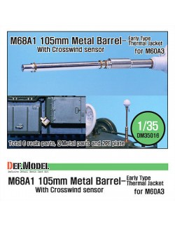 DEF.MODEL, M68A1 105mm Metal Barrel Early Type (for M60A3), DM 35016, SCALE 1/35
