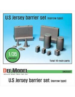 DEF.MODEL, US Jersey Barrier set (Narrow type), DM35007, SCALE 1/35